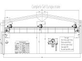 10 Ton Double Girder Overhead Crane Delivery To Tanzania