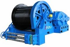 Frequency converter electric winch