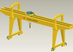 Double Girder Gantry Crane Rail Mounted