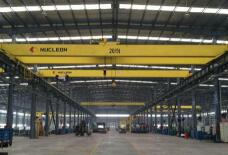 Double Girder Bridge Crane for Peru steel structure factory